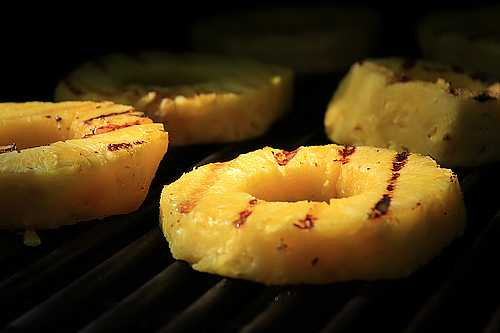 Pineapple on the grill photo 2