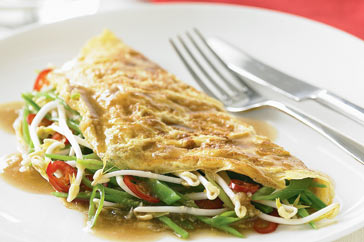 Prawn and potato omelette photo 1