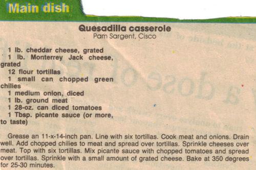 Quesadilla casserole photo 1