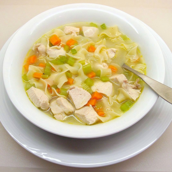 Quick and easy chicken noodle soup photo 1