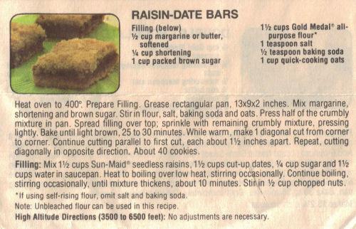 Raisin bars photo 2