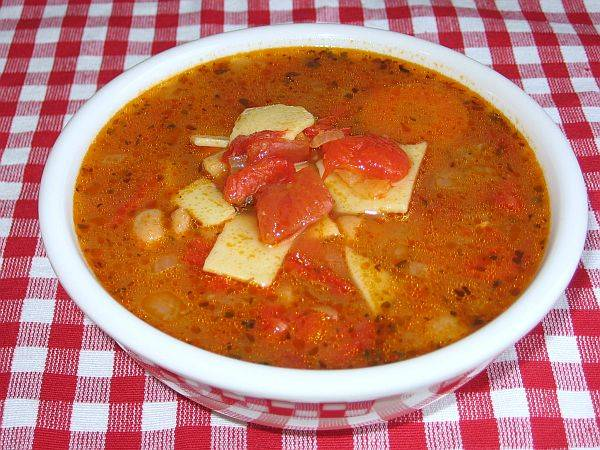 Red bell pepper soup photo 2