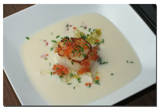 Scallop soup photo 2