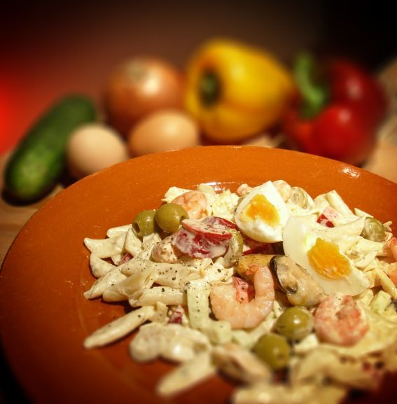 Shrimp and pasta salad photo 2