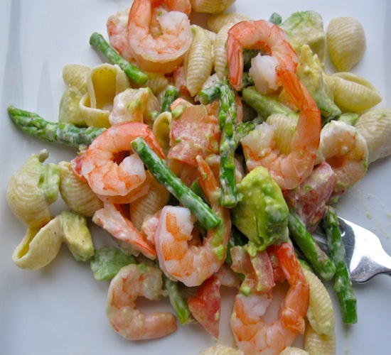 Shrimp and pasta salad photo 1
