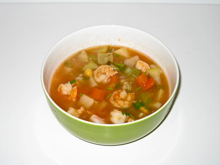 Shrimp soup photo 2