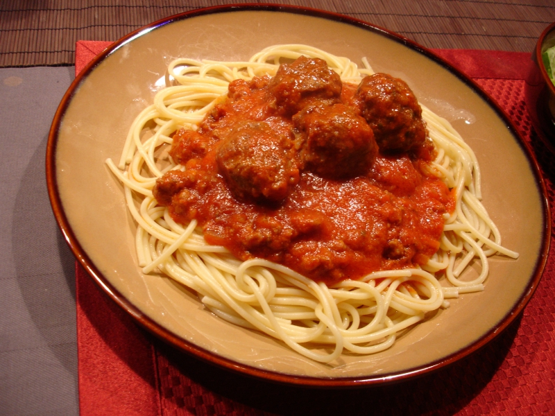 Spaghetti and cabbage with cheese sauce photo 5