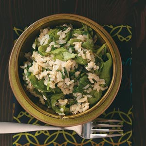 Spinach and rice photo 1