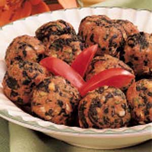 Spinach meatballs photo 2