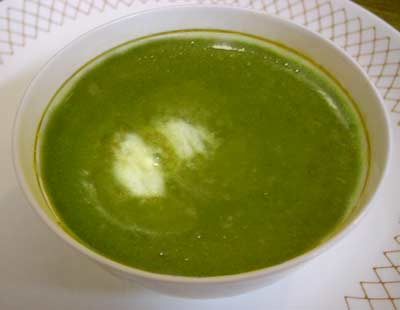 Spinach soup photo 1