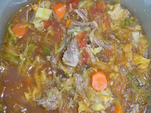 Sweet and sour cabbage soup photo 3