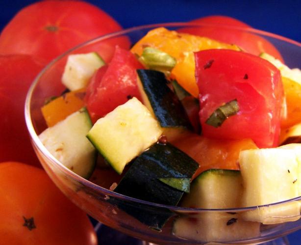 Tomato and zucchini salad photo 3
