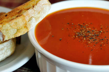 Tomato carrot soup photo 3