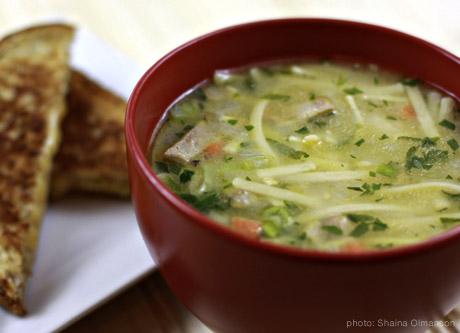 Turkey noodle soup photo 3
