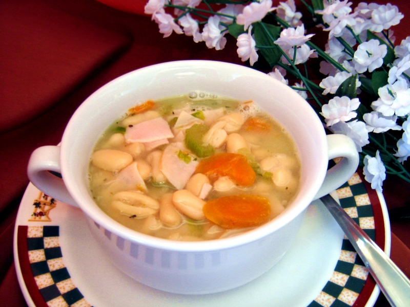 Turkey noodle soup photo 1