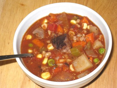Vegetable beef soup photo 1