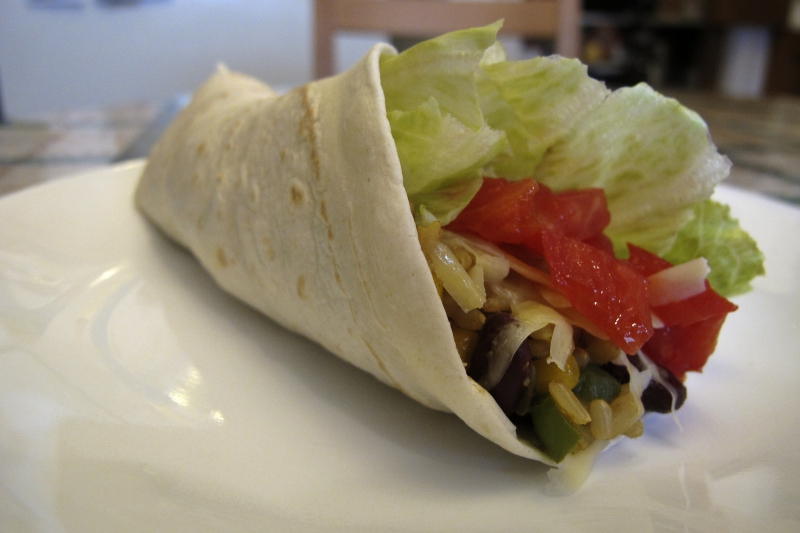 Vegetable burritos photo 1