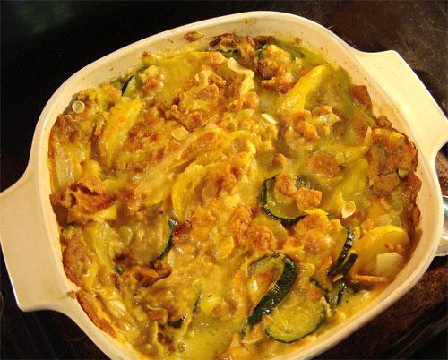 Zucchini squash casserole photo 3