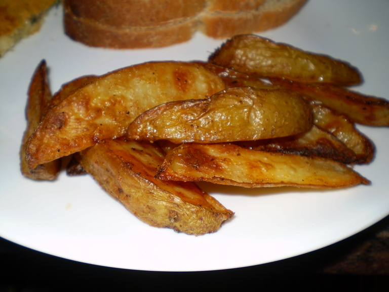 how to make potato wedges with cheese