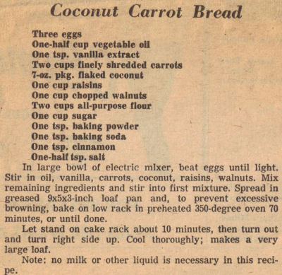 Carrot bread photo 1