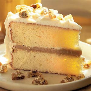 Cream caramel cake photo 2