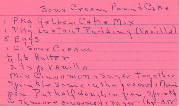 Sour Cream Pound Cake With Crisco