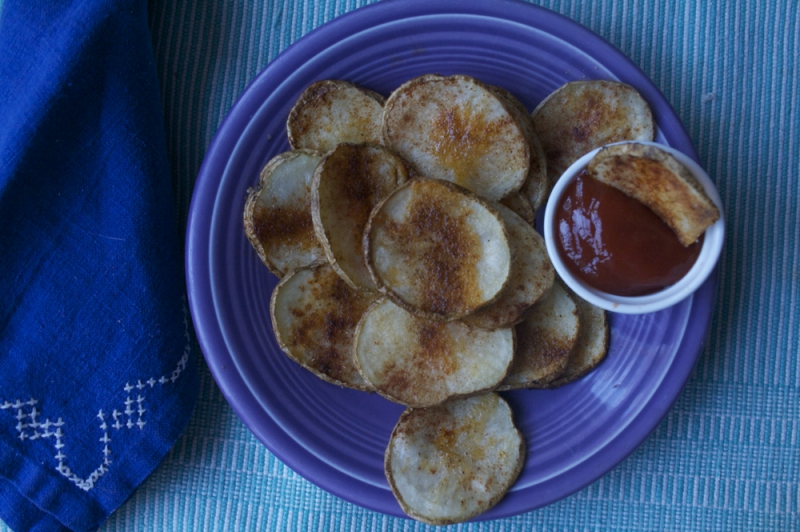 Oven-fried potatoes photo 2