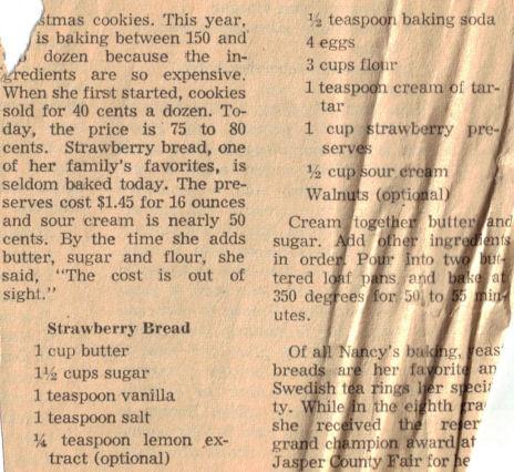 Strawberry bread photo 1