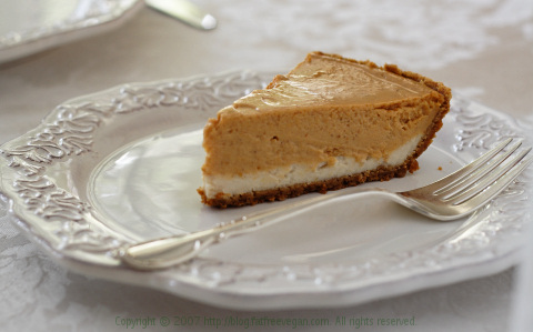 Double layer pumpkin cheesecake photo 1