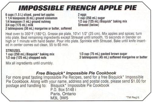 Impossible pie photo 1