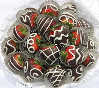 Chocolate dipped strawberries photo 2