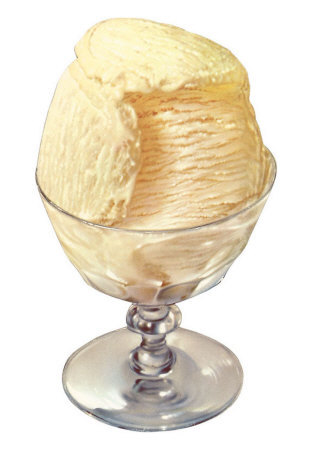 French vanilla ice cream photo 1