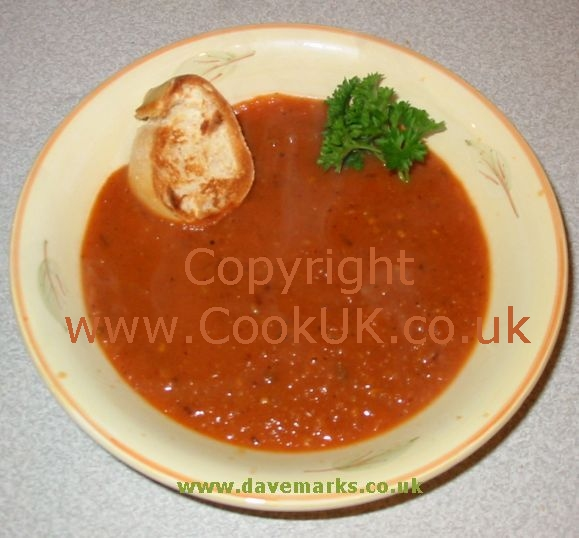Homemade tomato soup photo 1