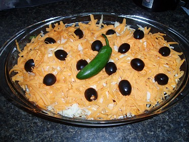 Mexican layered dip photo 3
