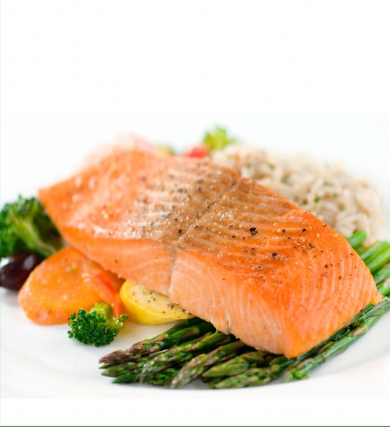 Salmon dinner photo 2