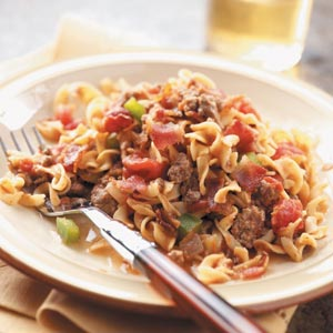 Spanish noodles and ground beef photo 1