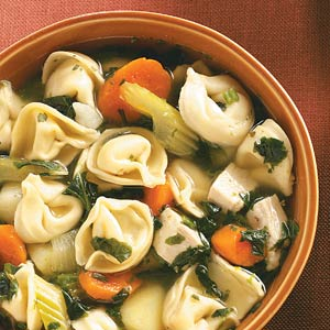 Spinach tortellini soup photo 3