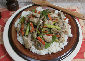 Stir-fry chicken and vegetables photo 2