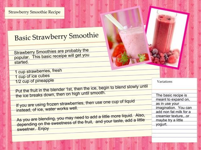Strawberry smoothie photo 3