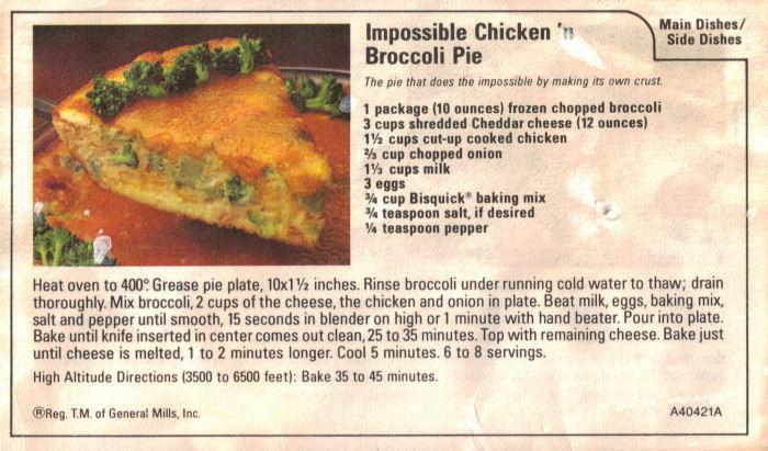 Impossible broccoli pie photo 1