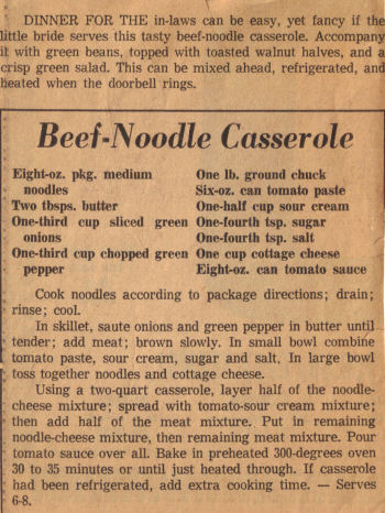 Beef noodle casserole photo 1