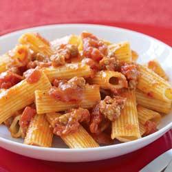 Sausage pasta photo 2
