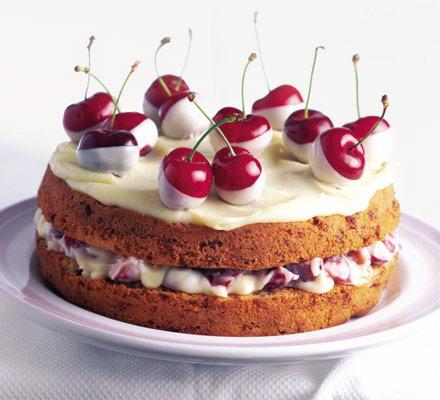 Chocolate covered cherry cake photo 1