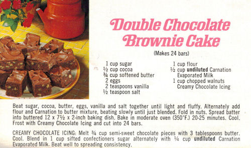 Chocolate brownie cake photo 1