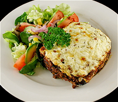 Greek moussaka photo 1