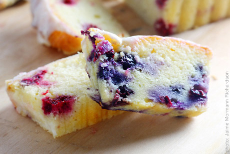 Blueberry cream cheese pound cake photo 1