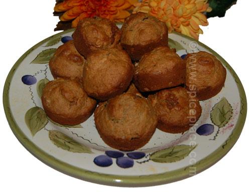 Oatmeal apple raisin muffins photo 3