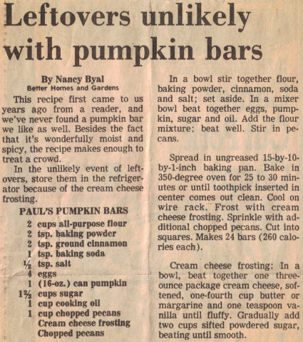 Pumpkin bars photo 2
