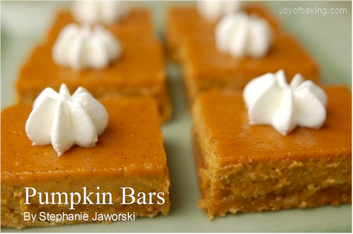 Pumpkin bars photo 1