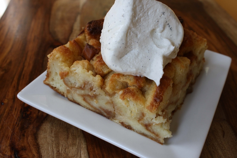 Apple bread pudding photo 3